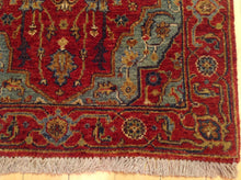 Load image into Gallery viewer, Fine Oriental Traditional Heriz Serapi Design 100-Percent Wool Runner-Rug