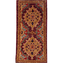 Load image into Gallery viewer, Hand-Knotted Stunning Traditional Peshawar Chobi Handmade Wool Rug (Size 1.9 X 3.6) Brral-4362