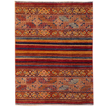 Load image into Gallery viewer, Hand-Knotted Kazak Khorjah Tribal Design Handmade Wool Rug (Size 2.10 X 4.0) Brral-4716