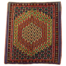Load image into Gallery viewer, Hand-Woven Oriental Persian Sanna Reversible Kilim Wool Rug (Size 4.0 X 5.1) Brral-5139