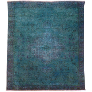 Hand-Knotted Overdyed Handmade Tribal Design 100% Wool Rug (Size 2.11 X 4.9) Brral-5508