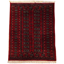 Load image into Gallery viewer, Hand-Knotted Oriental Jaldar Bokhara Design Wool Rug (Size 3.2 X 4.11) Brral-5697