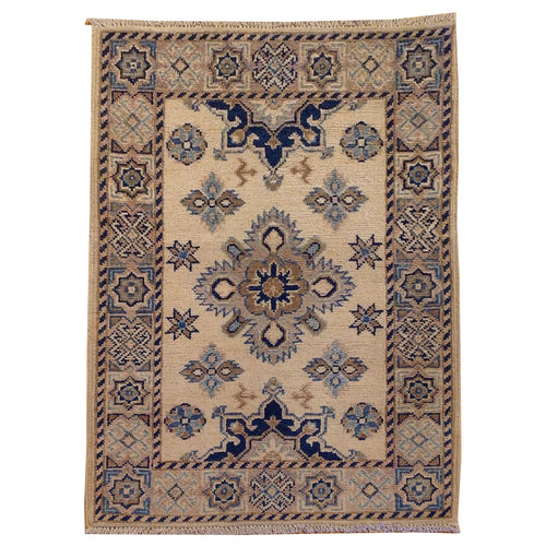 Hand-Knotted Caucasian Tribal Kazak Handmade Wool Rug (Size 2.1 X 2.10) Brral-5745