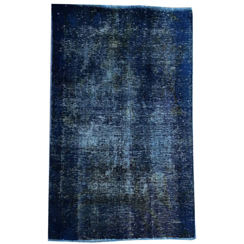 Hand-Knotted Overdyed Persian Traditional Handmade Wool Rug (Size 3.3 X 4.3) Brrsf-84