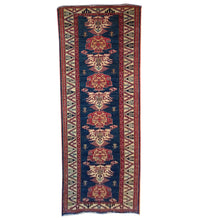 Load image into Gallery viewer, Hand-Knotted Oriental Super Kazak Tribal Rug 100% Wool Handmade (Size 2.8 X 9.9) Brral-1455