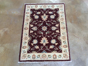 Hand-Knotted Floral Design Handmade Wool Peshawar Rug (Size 2.2 X 3.0) Brrsf-1671