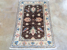 Load image into Gallery viewer, Hand-Knotted Floral Design Peshawar Handmade Wool Rug (Size 1.11 X 3.0) Brrsf-1677