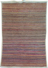 Load image into Gallery viewer, Hand-Knotted Fine Tribal Stripe Peshawar Gabbeh Design Wool Rug (Size 3.4 X 4.11) Brral-2478