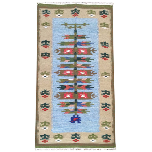 Hand-Woven Flatweave Authentic Macedonian Kilim Reversible Wool Rug (Size 2.3 X 4.8) Brrsf-492