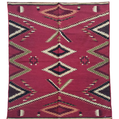 Chain-Stitched Kashmir Southwestern Handmade Wool Rug (Size 4.0 X 6.0) Brrsf-924