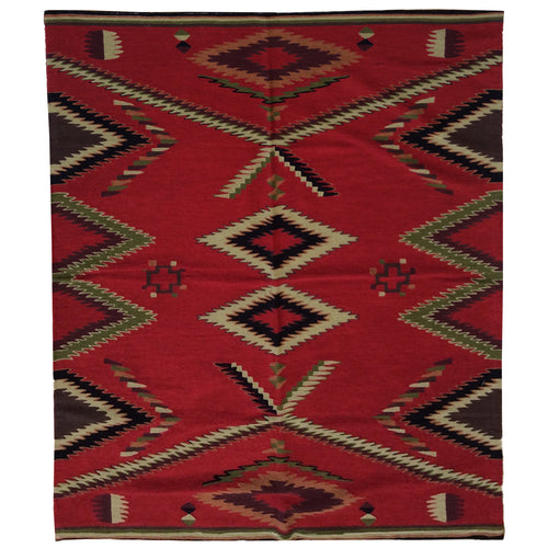Chain-Stitched Kashmir Southwestern Handmade Wool Rug (Size 4.0 X 6.0) Brrsf-954