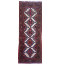 Load image into Gallery viewer, Hand-Knotted Vintage Tribal Rug 100% Wool Handmade (Size 2.7 X 9.1) Brral-2760