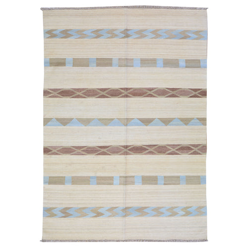 Hand-Woven Southwestern Reversible Kilim Wool Rug (Size 5.0 X 7.10) Brrsf-6183