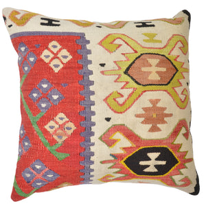 Geometric Vintage Style Hand-Woven vintage Pillow Cover Brpsf-1992