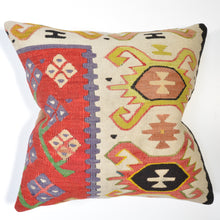 Load image into Gallery viewer, Geometric Vintage Style Hand-Woven vintage Pillow Cover Brpsf-1992