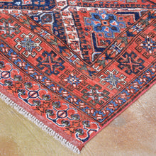 Load image into Gallery viewer, Hand-Knotted Afghan Tribal Handmade Authentic Wool Rug (Size 5.2 X 6.6) Brral-3225