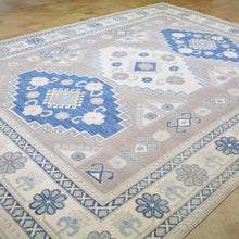 Load image into Gallery viewer, Hand-Knotted Vintage look Kazak Design Handmade Wool Rug (Size 8.0 X 10.0) Brral-4440