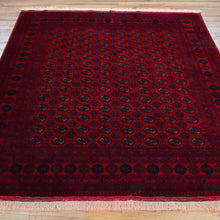 Load image into Gallery viewer, Hand-Knotted Fine Afghan Bokhara Tribal Design Handmade Wool Rug (Size 4.11 X 6.7) Brral-4869