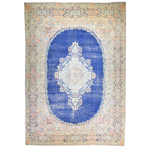 Hand-Knotted Persian Geometric Design 100% Wool Rug (Size 9.1 X 12.3) Brral-6390