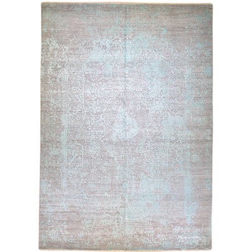 Fine Wool Silk Traditional Design Handmade Rug (Size 8.10 X 12.0) Brral-6399