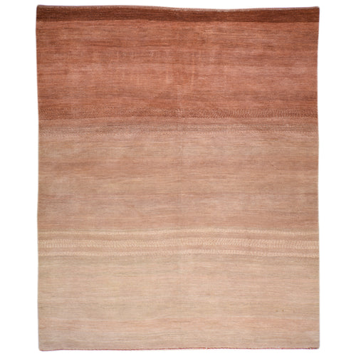 Hand-Knotted Gabbeh Design Handmade Wool Rug (Size 5.8 X 7.5) Brral-6525