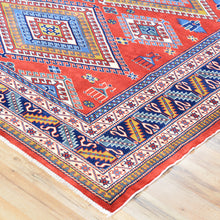 Load image into Gallery viewer, Hand-Knotted Fine Afghan Shirvan Design Wool Rug (Size 5.2 X 6.11) Brral-729