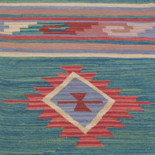Load image into Gallery viewer, Hand-Woven Reversible Kilim Dhurrie Geometric Design Wool Rug (Size 8.0 X 10.3) Brral-2142