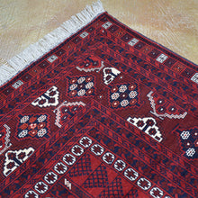 Load image into Gallery viewer, Hand-Knotted Afghan Turkoman Tribal Perda Design Wool Rug (Size 5.1 X 8.2) Brral-2619