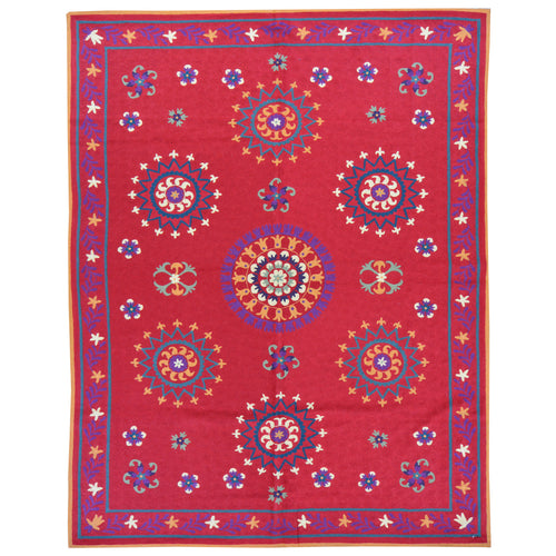 Chain-Stitched Fine India Handmade Wool Rug (Size 4.11 X 7.1) Brrsf-6078