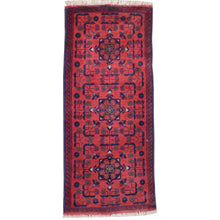 Load image into Gallery viewer, Hand-Knotted Afghan Khal Mohammadi Tribal Handmade 100% Wool (Size 1.9 X 4.6) Brrsf-159