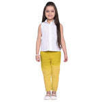 Raisa Yellow Shirt & Pant Set for Girls