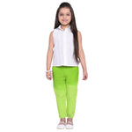 Raisa Green Shirt & Pant Set for Girls