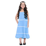 Layla Blue Dress & Shrug Set for Girls