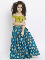 Sarah Blue Lehenga Choli set for Girls