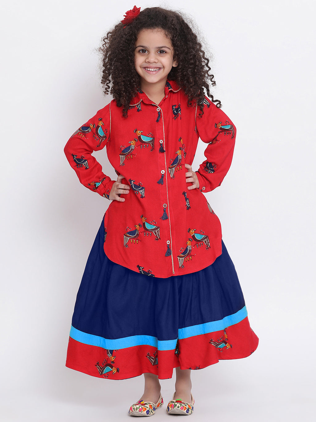 Tanika 1 Skirt with shirt dress for Girls