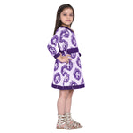 Afraa-1 Purple Frock for Girls