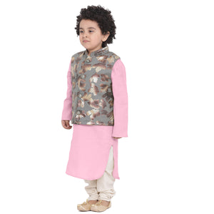 Adnan Pink kurta Pajama Set for boys