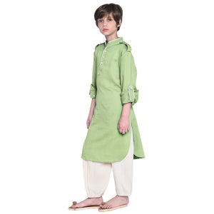 William Apple Green Kurta Pajama for Boys