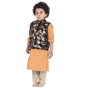 Agastya Rust Kurta Pajama Set For Boys