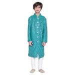 Niek teal Sherwani Set for Boys