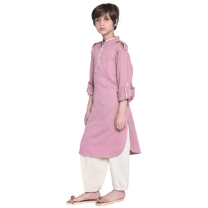 William Burnt Rose Kurta Pajama for Boys