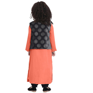 Urvi Orange Kurta pajama with shrug for Girls