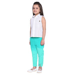 Raisa Sky-blue Shirt & Pant Set for Girls