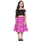 Klara Pink Crop Top & Skirt Set for Girls