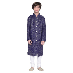 Niek Purple Sherwani Set for Boys