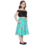 Klara blue Crop Top & Skirt Set for Girls