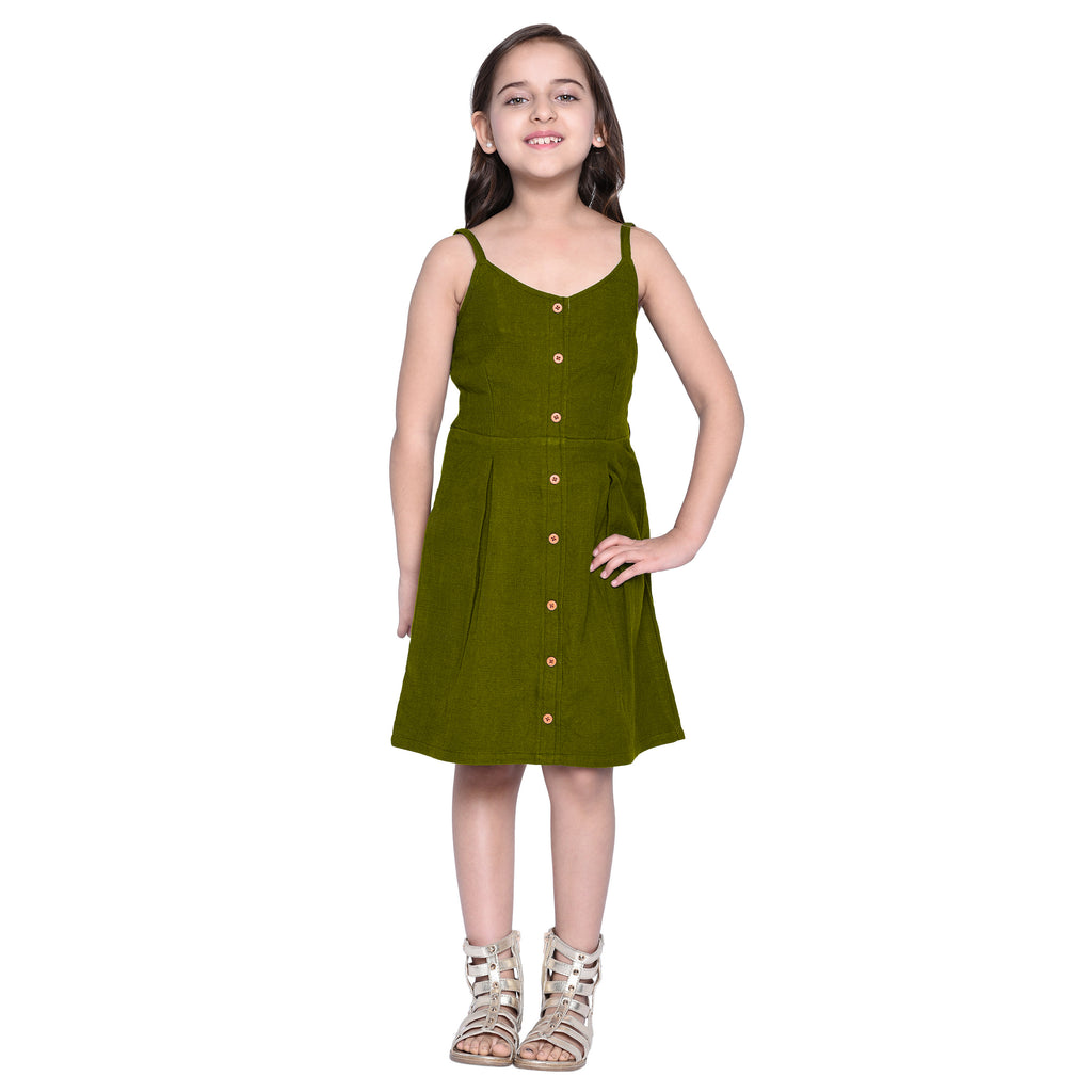 Matilda Olive Green Dress for Girls