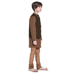 Franz Brown Kurta & Pajama with Jacket Set for Boys
