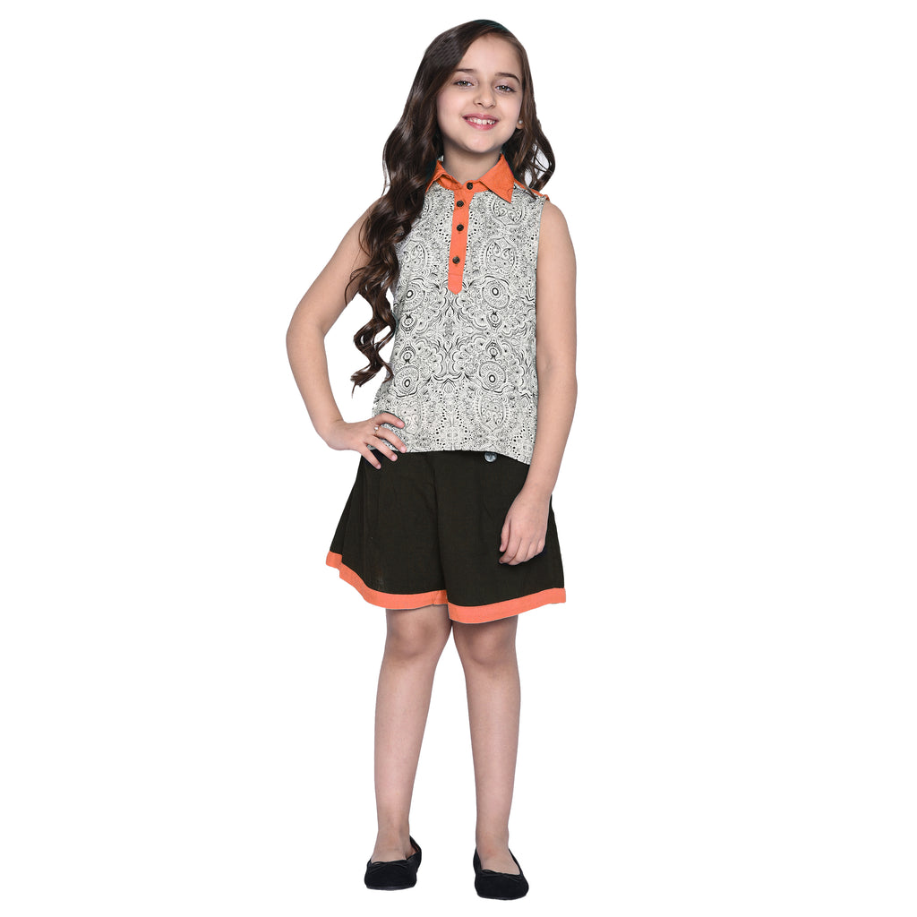 Tereza Orange & Short for Girls