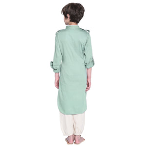 William Pastel Blue Kurta Pajama for Boys